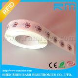 Etiqueta de papel del Hf RFID con la escritura de la etiqueta de la etiqueta engomada NFC de la etiqueta RFID de la impresión NFC RFID