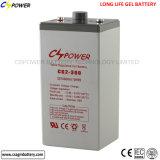 batería de almacenaje del gel de la energía eólica solar 2V2000ah