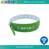 PVC 13.56MHz Ntag213 RFID Nfc Wristband de Customize Um Tempo Use Disposable Paper Soft do logotipo