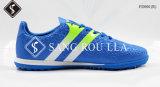 Sapatos de futebol indoor com seda de couro macio e sola de MD