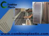 Porte de feuille de mousse de PVC économique de matériaux ivoire et de Brown