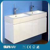 Vanità della stanza da bagno del MDF della pittura con il dispersore (SW-W1500B)