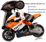 259806-2.4GHz Radio Control 1 - 16 Scale Motorbike con Inertia Wheel Device + Realistic Shock Absorber
