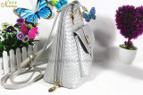 2016 최신 도매 길쌈된 PU 책가방, 여행 부대 제조