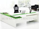 Escritorio de oficina ejecutiva de lujo chino del estilo de madera moderno del panel (SZ-OD479)
