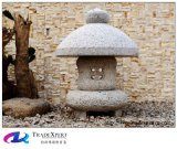 Natürliche Granit-Antike geschnitzte Steinlaterne