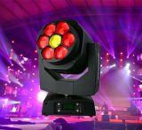 7X15W LEDのビームズームレンズの移動ヘッド蜂の目ライト