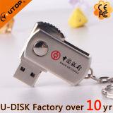 Heißer OEM/ODM kundenspezifischer Zeichen-Metallschwenker USB Pendrive (YT-1210)