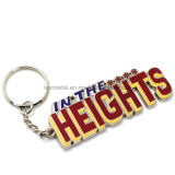 Hot Sell Custom Zinc Alloy Keychain avec le logo Letter
