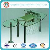 tabela de vidro do escritório da tabela de 10mm (vidro de flutuador desobstruído tempered)