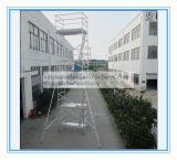 装飾のためのアルミニウム足場自己の上昇に渡される安全なセリウム