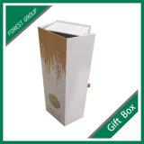 Vente en gros magnétique de empaquetage blanche de boîte-cadeau de fermeture de cadres estampée par coutume
