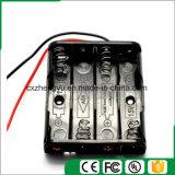 sostenedor de batería 4AAA con los terminales de componente de alambre rojos/negros