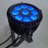 9X15W RGBAW IP65 al aire libre PAR64 LED a prueba de agua para la boda