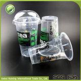 처분할 수 있는 뚜껑을%s 가진 플라스틱에 의하여 격리되는 명확한 주스 컵