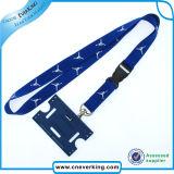 Etiqueta de identificación personalizada Llanura de poliéster correa de cuello