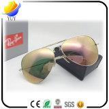 新しい男性および女性によって個人化される折るガラスの高い定義ガラスレンズのサングラス