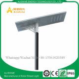 100W iluminación solar integrada del jardín de la calle del LED con la batería del Li-ion, regulador inteligente