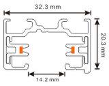 LED 조명 시설 (XR-L210)를 위한 1phase 2 철사 알루미늄 궤도