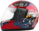 Capacetes novos da motocicleta da face cheia do projeto com baixo preço barato, alta qualidade