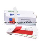 Papel de articulação dental descartável da alta qualidade, papel da oclusão
