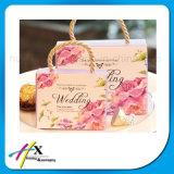 Sac de empaquetage de papier personnalisé de cadeau de jour du mariage avec le traitement