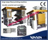 Печатная машина Flexo 2 цветов в скорости 100m группы блока в минуту
