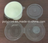 Tapa plástica de la taza que hace la máquina