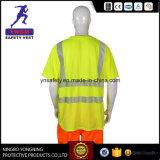 Camicia riflettente di sicurezza di alta visibilità fluorescente per il Brasile En20471