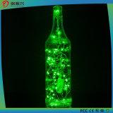 Luces de la cadena, cuerda de alambre caliente brillante estupenda del color verde Luz-Verde