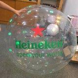 Bola inflable de la promoción gigante del PVC o de TPU con el LED