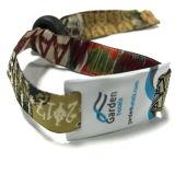 Wristband tejido tela del vinilo del boleto RFID NFC de los festivales del acontecimiento