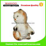 Cute Cat Color Glazing Porcelain Statue Figurine for Decor