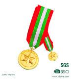 リボンが付いている熱い販売の鋳造のカスタム金のスポーツメダル