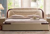Nieuwe Moderne Echte Koningin Size Bed van het Ontwerp (HC903) voor Slaapkamer