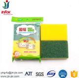 Eco-Friendly губка целлюлозы чистки домочадца с зеленой пусковой площадкой
