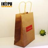 Мешок подарка промотирования бумажный, бумажная хозяйственная сумка, напечатанный бумажный мешок
