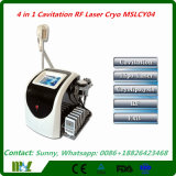 Cryolipolysisの脂肪質のフリーズのキャビテーション機械Mslcy04を細くする1つの工場価格のダイオードレーザーに付き4つ