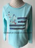 Глянцеватый красивейший пуловер Терри для девушки с ожогом вне