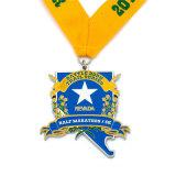 Médaille courante de marathon de module de finition de l'émail 10k
