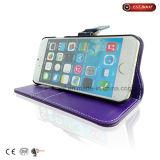 カラー対照の革フォリオの電話箱iPhone7の箱