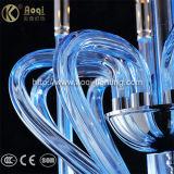 Indicatore luminoso di vetro blu-chiaro del pendente di arte