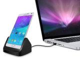 Station de remplissage micro de dock de stand de berceau pour la note 4 de Samsung