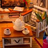 Chambre de poupée en bois de grande villa