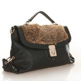 Bolso de tarde del hombro de la piel del cuero genuino de señora Fashion Handbag