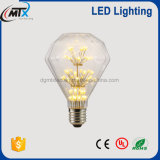 Decoração branca morna da ampola da lâmpada da ampola E27 220V do diodo emissor de luz de MTX 3W A60