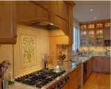 Gabinete de cozinha de vitrificação do café da madeira contínua do bordo