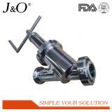 Tipo sanitário do ângulo válvula manual do aço inoxidável Y do retorno não
