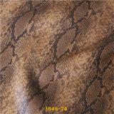 Piel artificial de la PU del diseño popular de la serpiente para los zapatos de gama alta del `S de la señora
