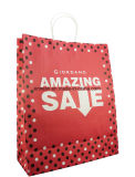 Projetar o saco de compra de papel luxuoso